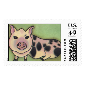 Red Rover Rescue Piglet Postage Stamps