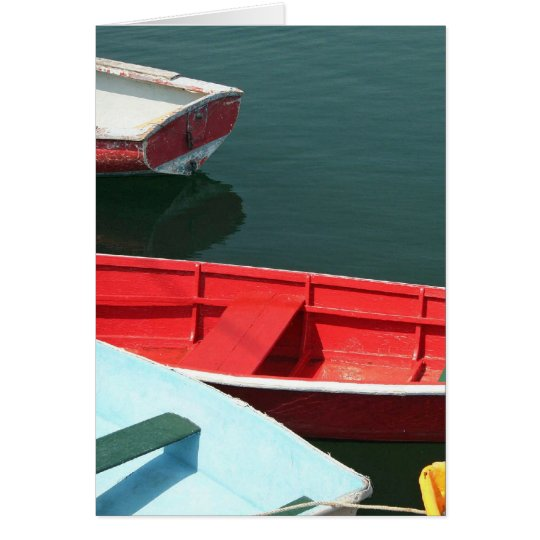 Red row boat card