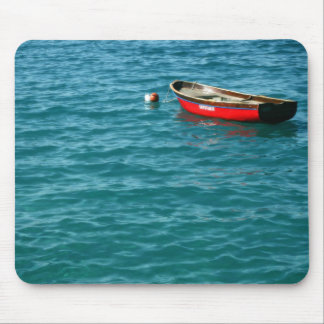Red Rowboat off the Isle of Capri Mouse Pad