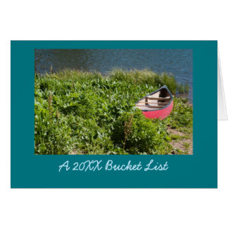 Red Rowboat Photo New Year Bucket List Card