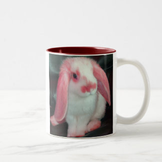 Red roxy rabbit Two-Tone coffee mug