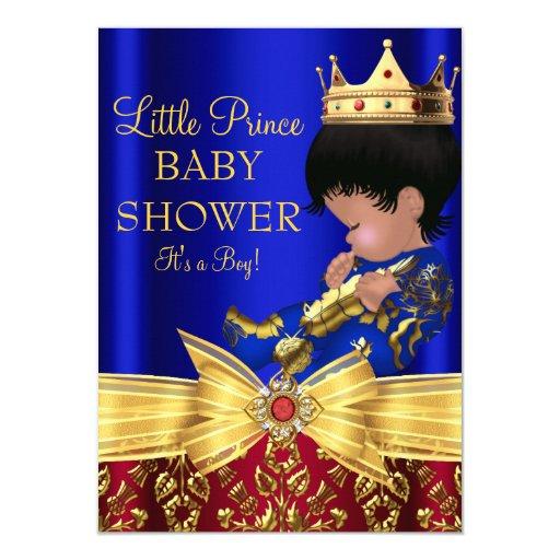 red royal blue prince boy baby shower invitation zazzle