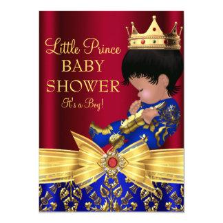 Red & Royal Blue Prince Boy Baby Shower Invite 2
