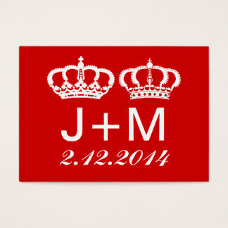 Red Royal Couple Wedding Place Card