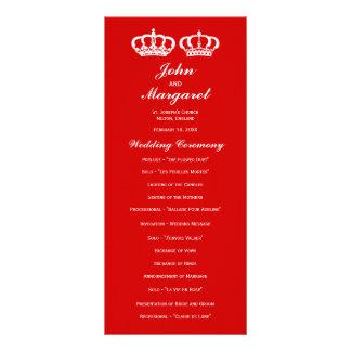 Red Royal Couple Wedding Program