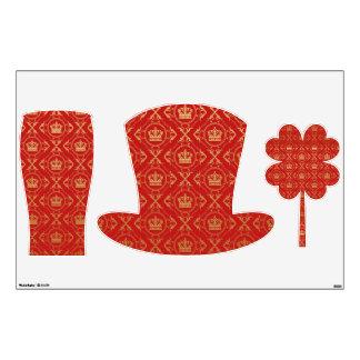 Red,royal,gold,pattern,damask,elegant,chic,modern, Room Graphics