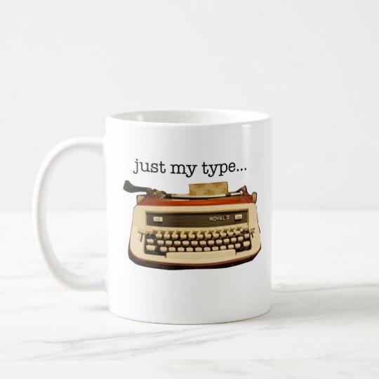Red Royal 'just My Type' Coffee Mug