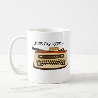 Red Royal 'just My Type' Classic White Coffee Mug