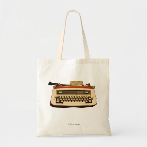 Red Royal Typewriter Tote Bag