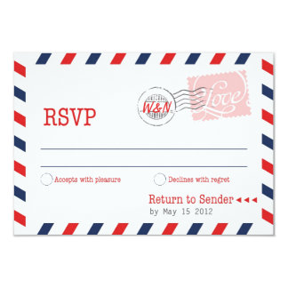 Red RSVP Postal Service Collection 3.5x5 Paper Invitation Card