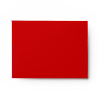Red RSVP Wedding Envelope