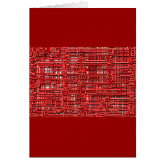 Red Rubber Abstract, mod design template