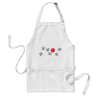 Red Rubber Ball and Jacks Adult Apron
