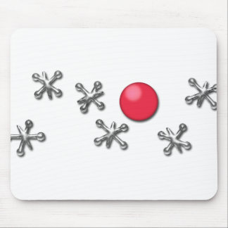 Red Rubber Ball and Jacks Mouse Pad
