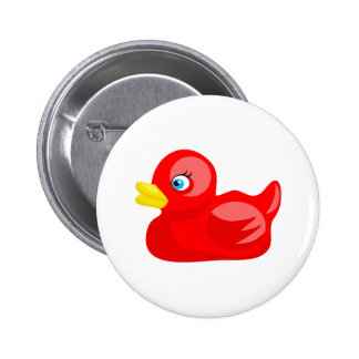 Red Rubber Duck Button