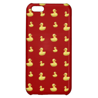 Red rubber duck pattern case for iPhone 5C