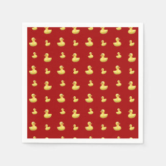 Red rubber duck pattern disposable napkins