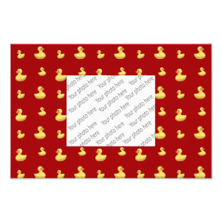 Red rubber duck pattern photographic print