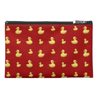 Red rubber duck pattern travel accessory bag