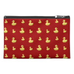 Red rubber duck pattern travel accessory bags