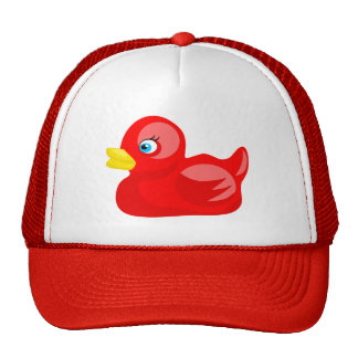 Red Rubber Duck Trucker Hat