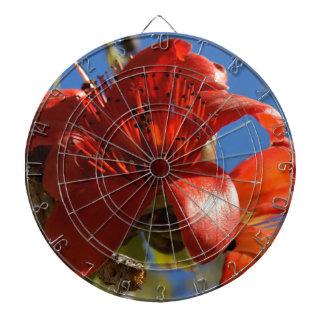 Red Rubber Tree Dartboard
