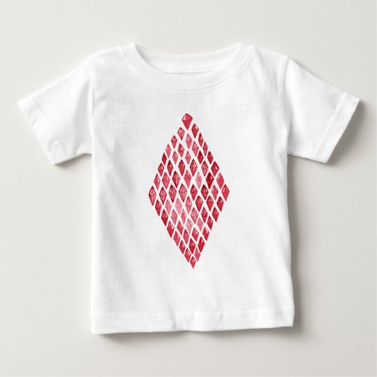 Red Ruby Diamond- Above Rubies Abstract Art Design Baby T-Shirt