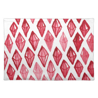 Red Ruby Diamond- Above Rubies Abstract Art Design Place Mats
