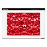 "Red Ruby Diamonds 15"" Laptop Skin"