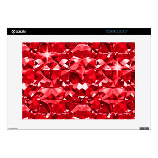 Red Ruby Diamonds Laptop Skins