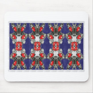 Red Ruby Imitation Jewel Pattern KIDS Girls HAPPY Mouse Pad