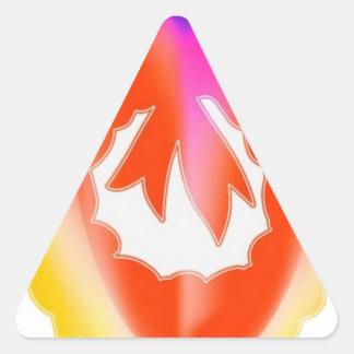 Red Ruby Jewel Flair Wreath : ENJOY n share JOY Triangle Sticker