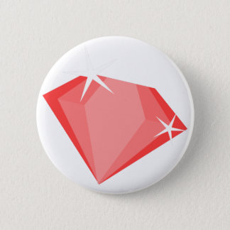 Red Ruby Pinback Button