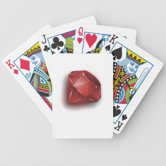 Red Ruby Bicycle Poker Cards