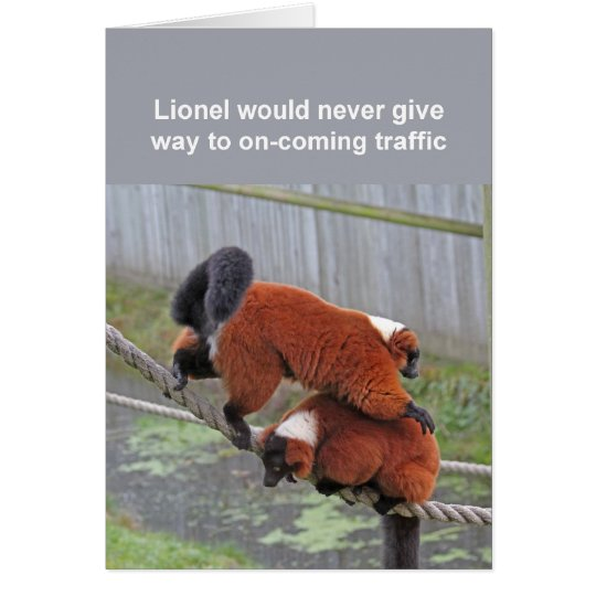 Red-ruffed lemurs card