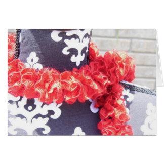 Red Ruffle Scarf Card
