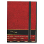 Red Ruffled Damask Custom iPad Air Case