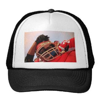 Red rugby team trucker hat