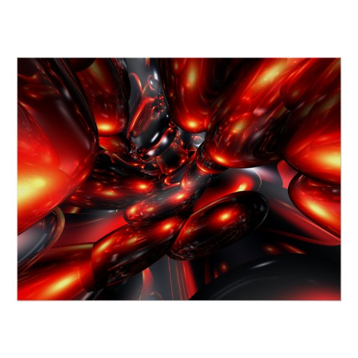 Red Rum Abstract Poster
