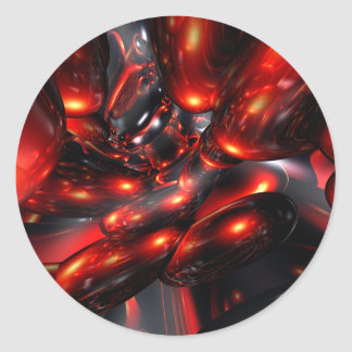 Red Rum Abstract Sticker