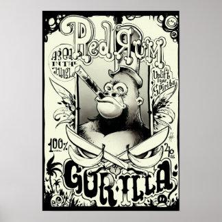 Red Rum Gorilla Poster