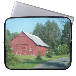 Red Rural Barn Laptop Computer Sleeves