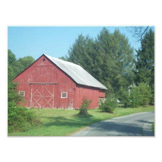 Red Rural Barn Art Photo
