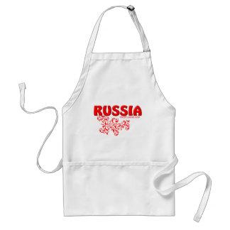 Red Russian design Apron