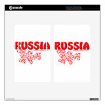 Red Russian design Decal For Kindle Fire