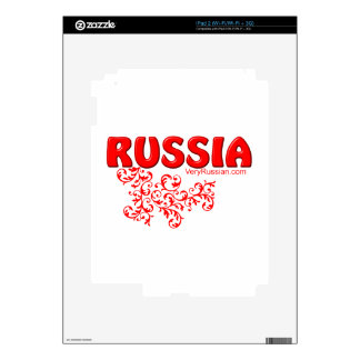 Red Russian design iPad 2 Decals