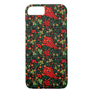 Red Russian Khokhloma Design Accessories iPhone 7 Case