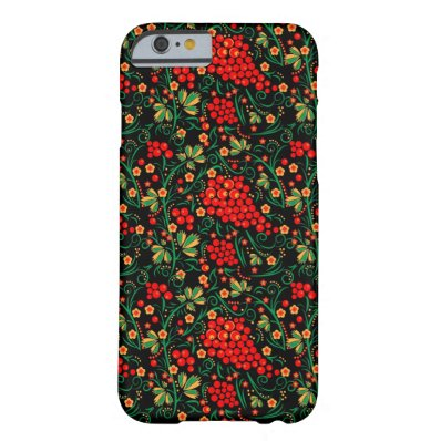 Red Russian Khokhloma Design Accessories iPhone 6 Case