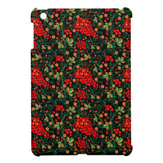 Red Russian Khokhloma Design Mobile Accessories iPad Mini Cover