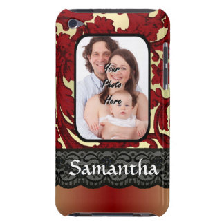 Red rust damask barely there iPod case
